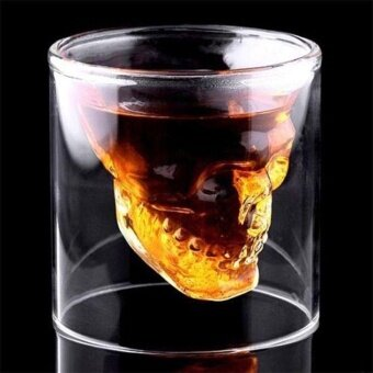 Decoration Halloween Skull Cup Wine Head Shot Glass Fun Creative Whisky Drinkware - intl
