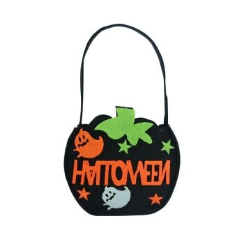 DIY Pumpkin Bag Candy Kids Children Halloween Storage Trick OrTreat Celebration - intl