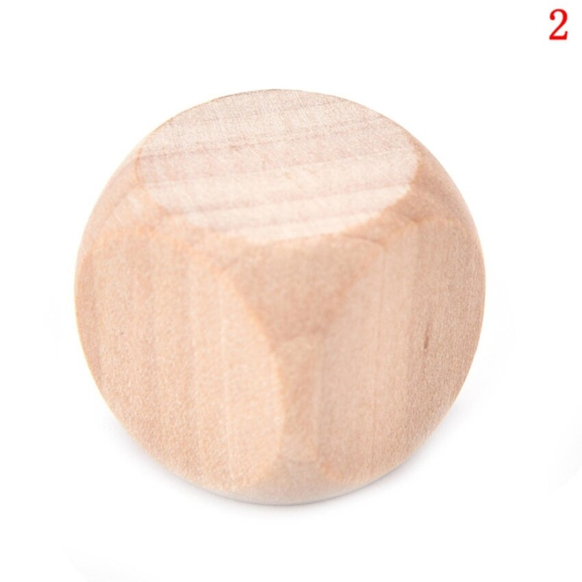 DIY Wooden Dice Creative Can Make Multi-faceted Dice Bar Game Props Wood Fun Sieve size :2cm - intl image