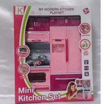 DM toys ของเล่นชุดห้องครัวบาร์บี้ มีเสียงมีไฟ(สีชมพู)
