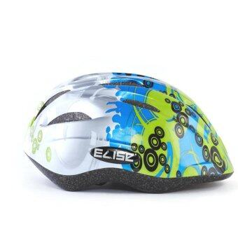 Elise' หมวกจักรยานเด็ก - Green/Blue