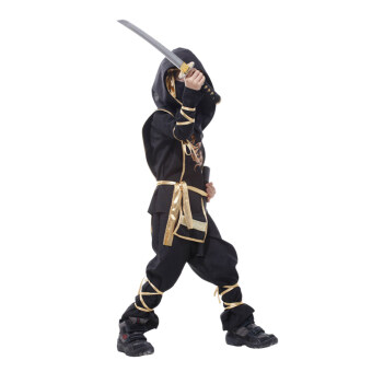 EOZY Classic Halloween Costumes Cosplay Costume Martial Arts NinjaCostumes For Kids Fancy Party Decoration -XL (Black) - Intl