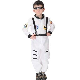 EOZY Kids Astronaut Costume Child Profession Cosplay Outfit BoysFantasia Halloween Fancy Dress -M (White)