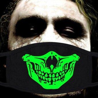 Fang Fang Mouth Mask Masks Cotton Cool Green Glow Teeth LuminousAnti Dust Muffle - Style 16 - intl