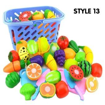 Fantastic Flower Kitchen Toy Baby Plastic Colorful Cut Fruit Pretend Play House Educational Toys-Vegetables &Fruits 15PCs/set - intl