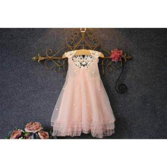 Fashion kids clothes Flower Girl Spring Summer Princess Dress Kid Baby Formal Party Wedding Lace Tulle Tutu Dresses - intl