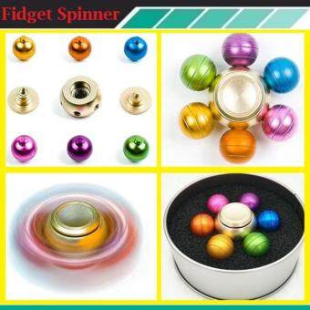 Harga Fidget Spinner The new six dragon beads fingertips gyro aluminumalloy colorful gyro plug models