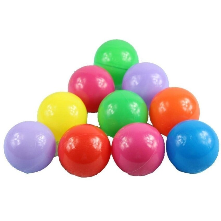 Four Season Big Sale Babrit Pack of 100 Phthalate Free BPA Free Crush Proof Plastic Balls- 6 Bright Colors - intl