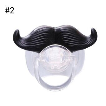 Funny Dummy Dummies Pacifier Novelty Teeth Moustache Baby ChildSoother Type 2 - intl
