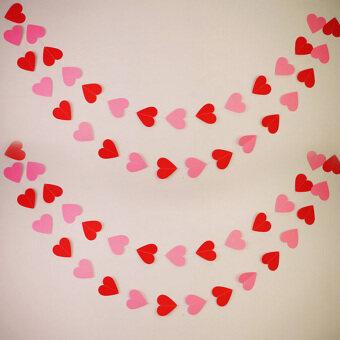 ธงธงธง Garlandเด็กงานเลี้ยงวันเกิดวันแต่งงานการตกแต่งห้องน้ำสีชมพูสีแดง