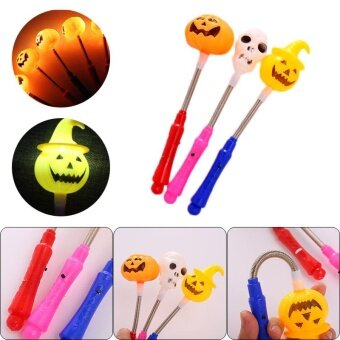 Ghost Head Pumpkin Stick Wand Flashing Toys Halloween BatteriedRandom - intl