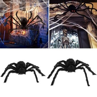 Gracefulvara 50CM For Hallowmas Cosplay Props False Spider Plush Home And Garden Holiday Present - intl