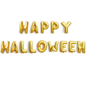 Halloween สีดำฮาโลวีนฮาโลวีนภาพบอลลูนตกแต่งลูกโป่ง