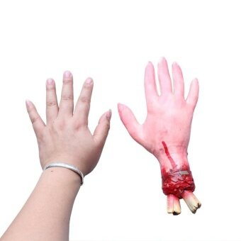 Halloween Bloody Haunted Horror Scary Prop Fake Severed Arm HandSanguinary Toy - intl
