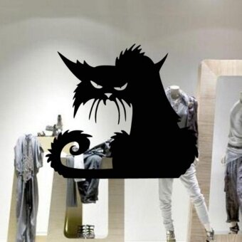 Halloween Scary Wall Decal Removable Art Cat Ghost Pumpkin Room Party Sticker - intl