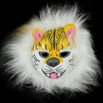 Halloween you must have it EVA Mask Plush Animal Helloween DecorProps 7 Type Prank Rabbit Wolf Leopard - intl