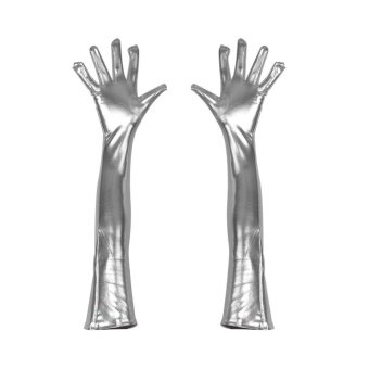 Halloween you must have it Gloves Halloween Costume Accessory AdultLong Reenactment Solid Elbow Smooth - intl