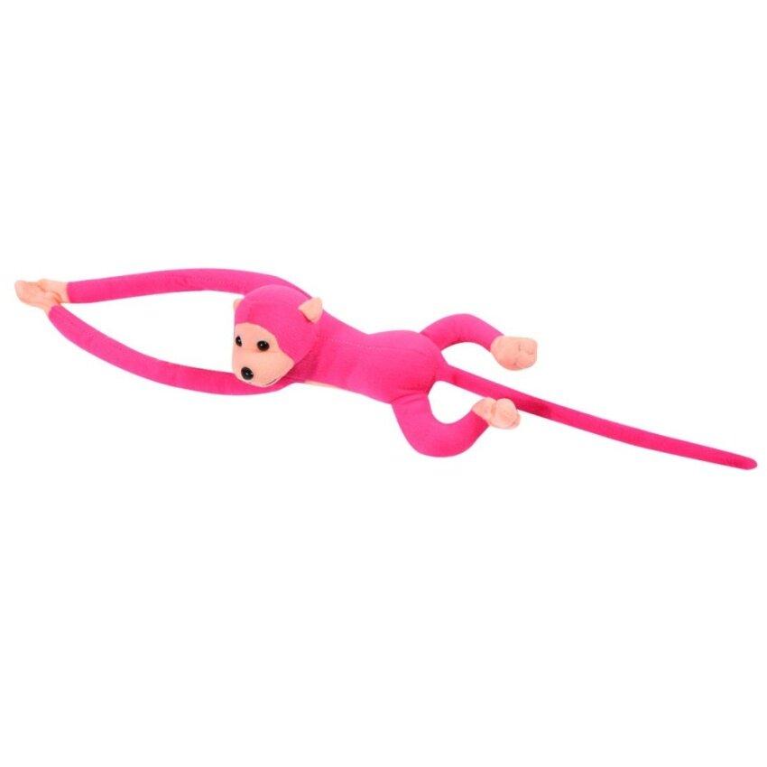 Hanging Monkey Long Arm Plush Baby Toys Doll Kids Gift rose red - intl