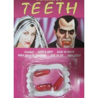 Harga Hanyu Halloween Vampire Fang Teeth Party Dentures Props Tricky ToysWhite