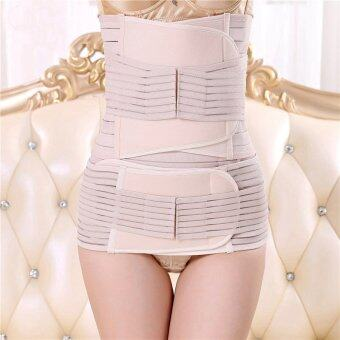 Haotom Premium 3pcs Set Haotom Body Shaper Waist Trimmer PostpartumSupport Belt Bengkung Modern Corset Girdle Belts(Natural)