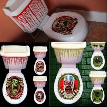 Holloween Halloween Toilet Seat Grabber Cover Party Festival Sticker Home Bathroom Decor - intl