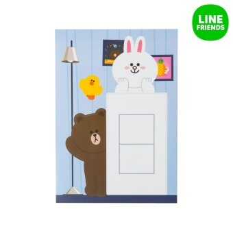 HOME DECO STICKER_SAYING HELLO_BROWN&CONY - 3