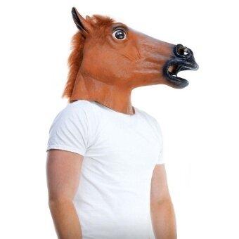 Horse Head Mask Halloween Costume Party Theater Prop Noveltylatexrubber Creepy - intl