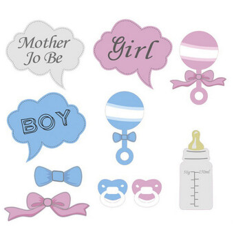 Harga Hot 10Pcs Party Gifts Photo Booth Props DIY Bottle Baby Shower -Intl