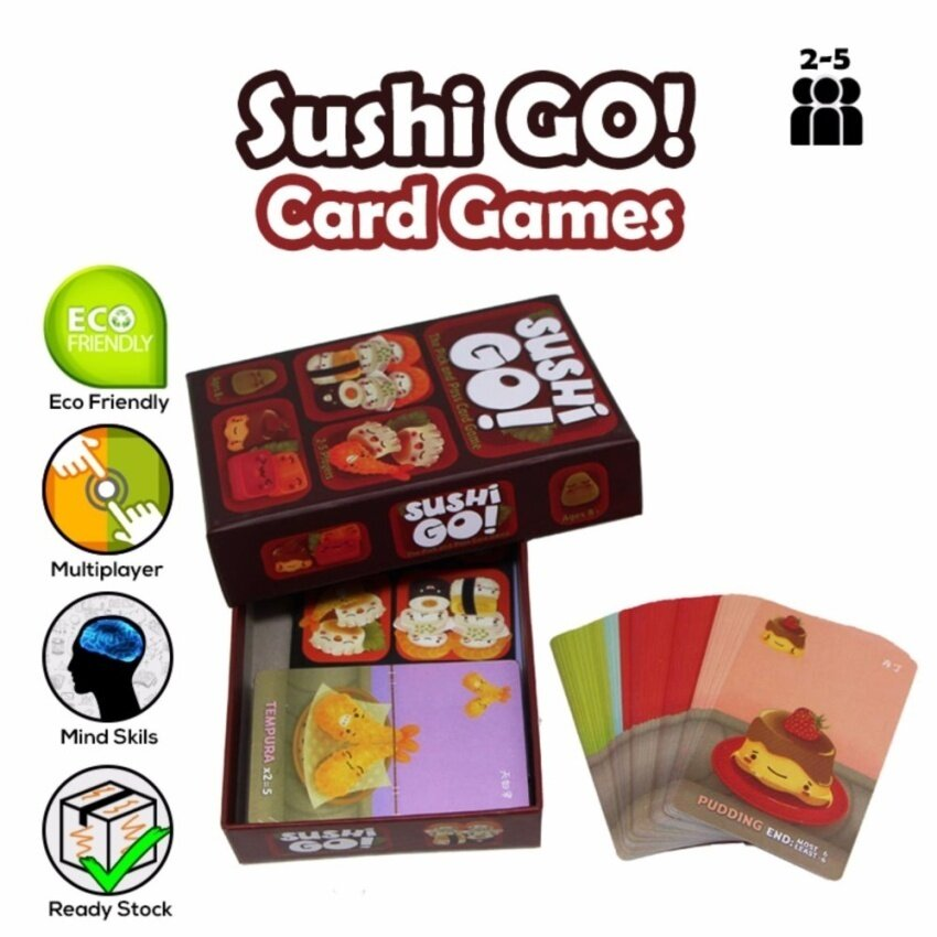 !!HOT!! 2-8 Players (Multiplayer) Realeos Sushi Go Board Pick andPass Cards Family Party Card Game - R498 - intl
