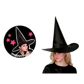 Harga Hot Cosplay Black Hat Halloween Costume Party Props Witch HatWizard Hat - intl
