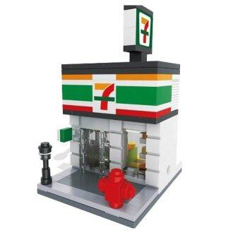 HSANHE Mini Street Convenience Store Lego เลโก้ร้านสะดวกซื้อ