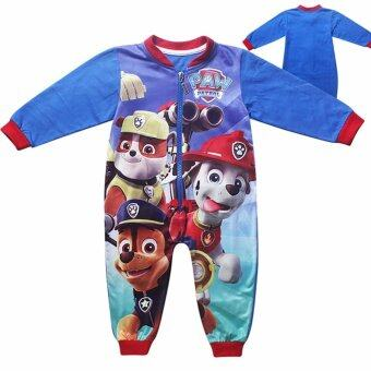 Harga Hequ Boys Paw Patrol Puppy Dog Pawfect Team Fleece Zip Sleepsuit Romper 2 to 6 Years - intl