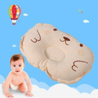 Harga Newborn Baby Cute Cotton Soft Pillow Infant Flat Prevention Anti-Rollover Head Support Pillows- #2 - intl