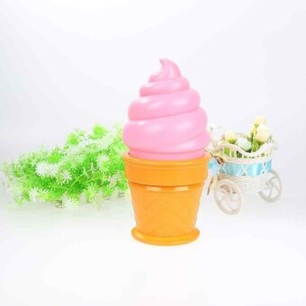 Harga Ice Cream Cone Shaped Night Light Desk Table LED Lamp for Kids Children Bedroom - intl