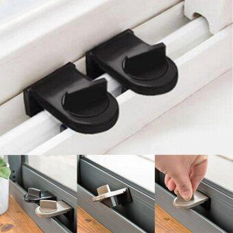 Harga 2PCS Security Sliding Stopper Door Window Safety Sash Lock Restrictor Catch Tools - intl