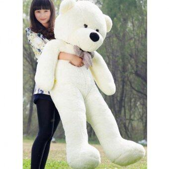 Harga 60cm Fluffy toys Plush Cloth Doll Toy Plush Stuffed Animals Giant Teddy Bear Toys (White) - intl