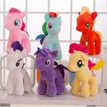 Harga 1pc 8inch Rainbow Horse Plush Toys Cartoon Toy Doll Plush Animals Little Horse BaoLi Children Kids Toys Gift - intl
