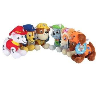 Harga 6pcs/lot 12cm Cute Dog Plush Gift for Children Action Puppy Patrol Kids Toys Stuffed Action-packed Pup