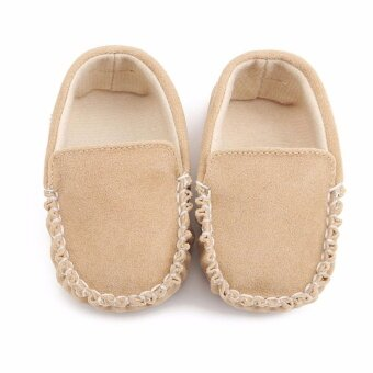 Harga Lovely Infant Princess Baby First Walkers Shoes Baby Matte Pu Casual Leather Shoes Khaki - intl