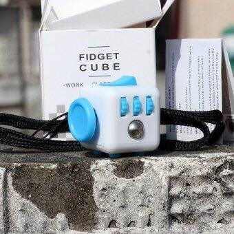 Harga Mini Size 3.5*3.5 Fidget Cube Desk Spin Magic Cubes Stress Relief Desk Spin Toys Gifts For Children - intl