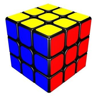 Harga LT365 YJ Guan Long 3x3x3 Magic Cube 57mm Black - intl