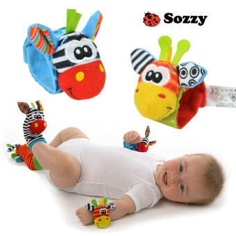 Harga Baby Rattle Toy Wrist Socks Multicolor(Intellectual Toys) - Intl