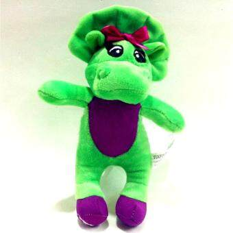 Harga 18cm Barney and Friends Dinosaur Soft Plush Toy with Music Player Green - intl