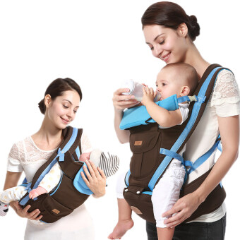 Harga UUMU Breathable Cotton Baby Carrier (Blue)