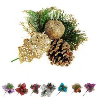 Harga Christmas Tree Decor Pine Cones Branches Hanging Bauble Decor Ornament Rose - intl