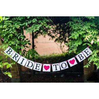 "Harga Banners writed"" Bride to be"" by white card strung by pink rope Streamer - intl"