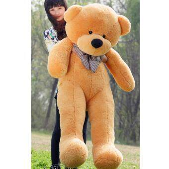 Harga 60cm Fluffy toys Plush Cloth Doll Toy Plush Stuffed Animals Giant Teddy Bear Toys (Light Brown) - intl