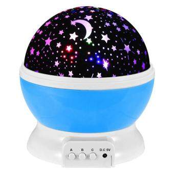 Harga Jiayiqi Baby LED Night Light Star Sky Projector Luminous Lamp for Kids Gift Blue - intl