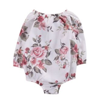 Harga Baby Girls Floral Long Sleeve Infant Baby Girl Kid Romper Jumpsuit Cotton Outfit Sunsuit - intl