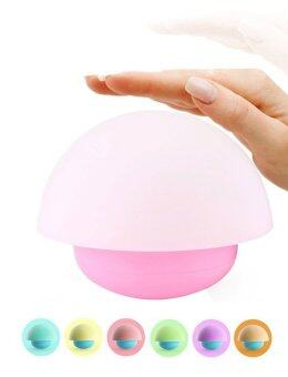 Harga Tumbler Mushroom Design Colorful Night Light Touch Sensor Dimmable LED Nightlights with Softlight,Stronglight and 7 Colorful Light Best Gift for Baby Room, Bedroom, Nursery, Outdoor(Pink) - intl